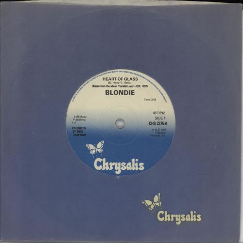 "Blondie Heart Of Glass - solid 7"" vinyl single (7 inch record) UK BLO07HE762293"