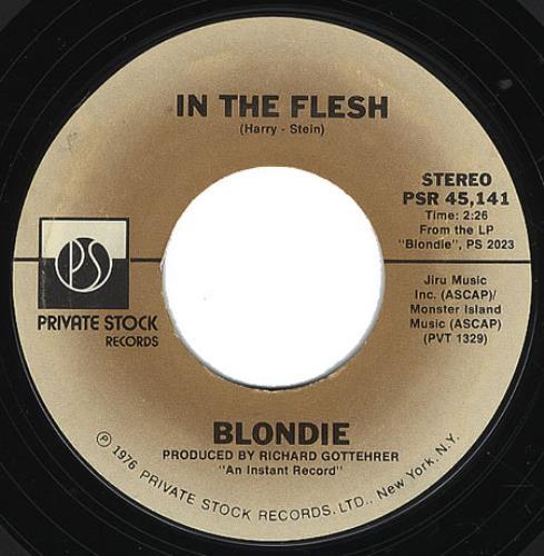 "Blondie In The Flesh 7"" vinyl single (7 inch record) US BLO07IN365522"