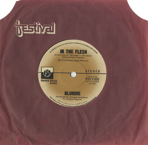 "Blondie In The Flesh 7"" vinyl single (7 inch record) Australian BLO07IN440178"
