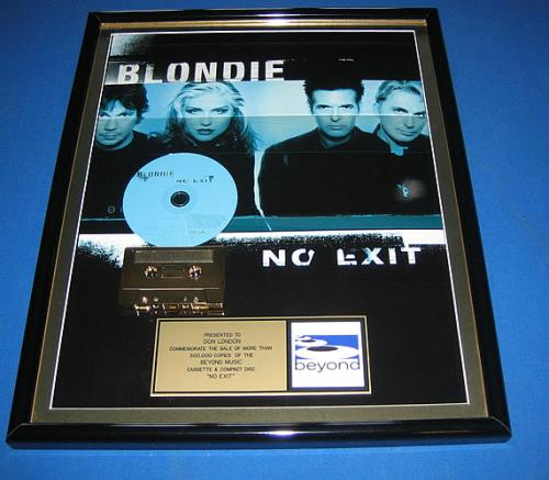 Blondie No Exit award disc US BLOAWNO145100