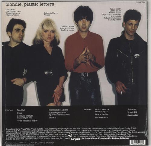 Blondie Plastic Letters - 180gm vinyl LP album (LP record) UK BLOLPPL741416