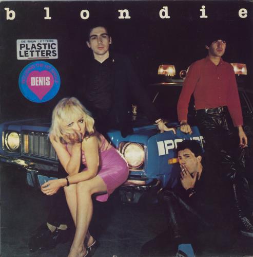 Blondie Plastic Letters - Stickered sleeve vinyl LP album (LP record) UK BLOLPPL542194