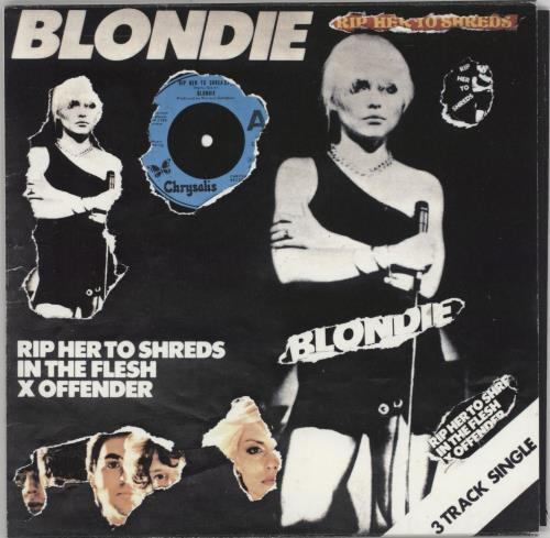 "Blondie Rip Her To Shreds - Punk Art Sleeve 7"" vinyl single (7 inch record) UK BLO07RI757425"