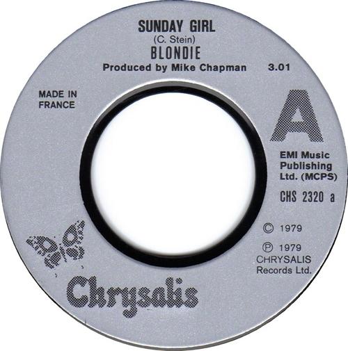 "Blondie Sunday Girl 7"" vinyl single (7 inch record) French BLO07SU607186"