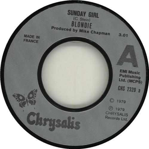"Blondie Sunday Girl 7"" vinyl single (7 inch record) French BLO07SU673279"