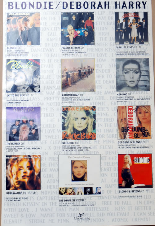 Blondie The Complete Picture poster UK BLOPOTH142090