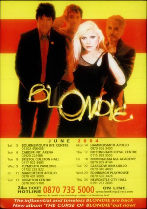 Blondie UK Tour - June 2004 handbill UK BLOHBUK545651