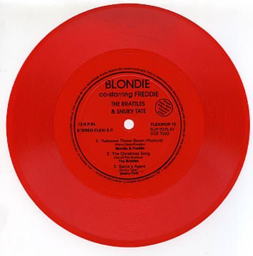 "Blondie Yuletown Throw Down - Red 7"" vinyl single (7 inch record) UK BLO07YU288075"
