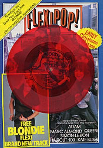 Blondie Yuletown Throw Down Red flexi + Flexipop mag magazine UK BLOMAYU149661