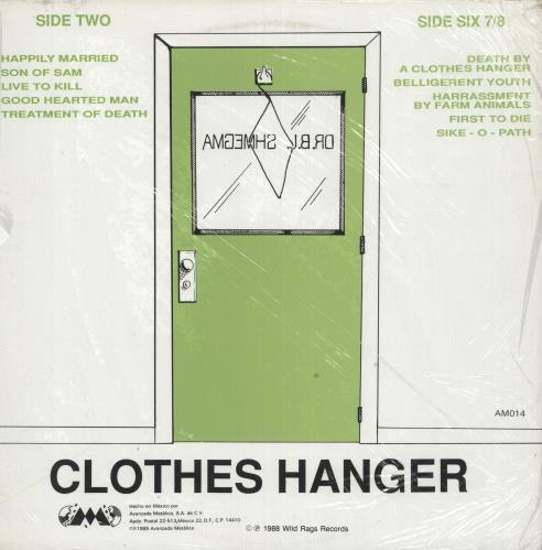 Bloodcum Death By A... Clothes Hanger + Poster vinyl LP album (LP record) Mexican 02PLPDE739380