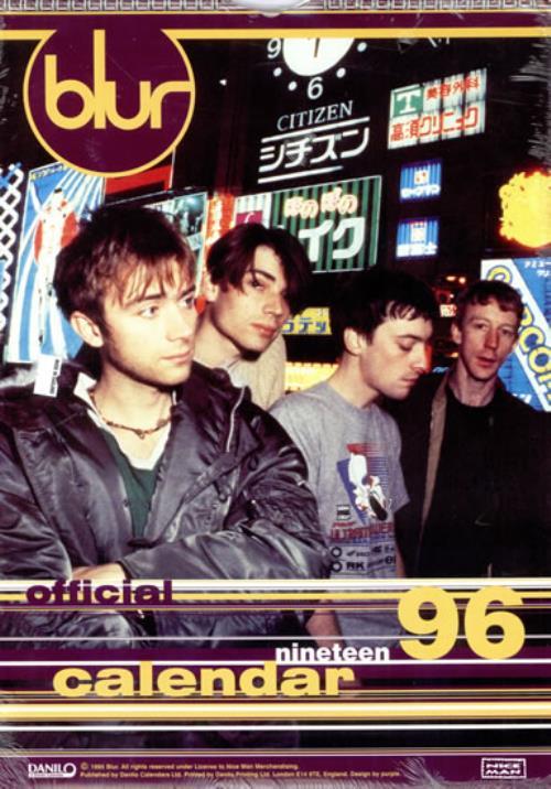 Blur Calendar 1996 - Danilo - Sealed calendar UK BLRCACA53252