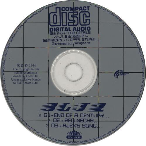 "Blur End Of A Century CD single (CD5 / 5"") Australian BLRC5EN44337"