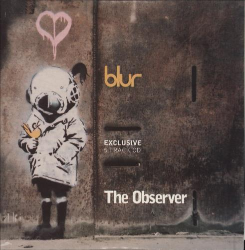 "Blur Exclusive 5 Track CD - The Observer CD single (CD5 / 5"") UK BLRC5EX261571"