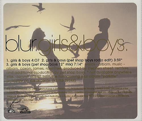 "Blur Girls & Boys CD single (CD5 / 5"") US BLRC5GI30629"