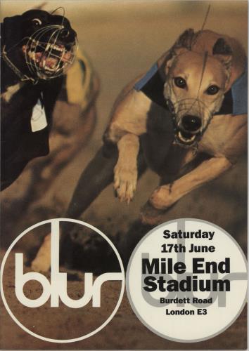 Blur Live at Mile End Stadium tour programme UK BLRTRLI751878
