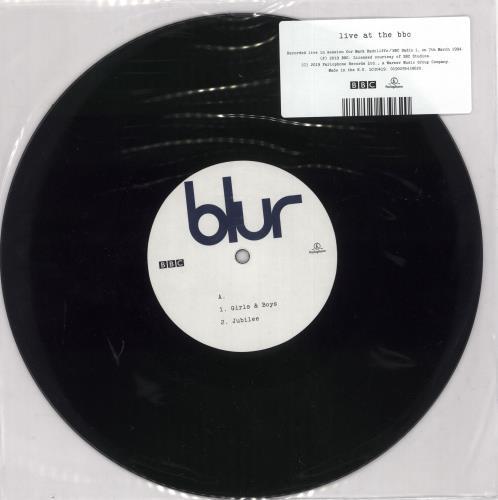 """Blur Live At The BBC 10"""" vinyl single (10"""" record) UK BLR10LI727293"""