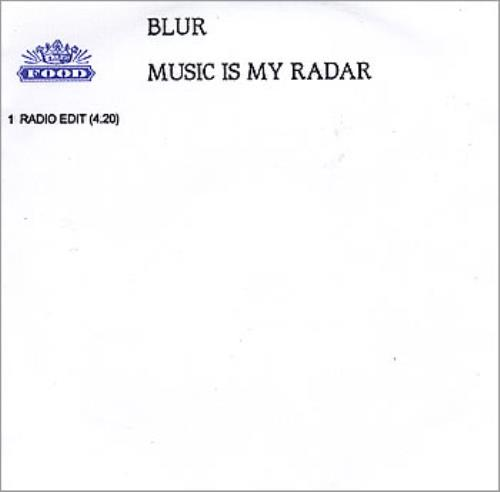 Blur Music Is My Radar CD-R acetate UK BLRCRMU167683