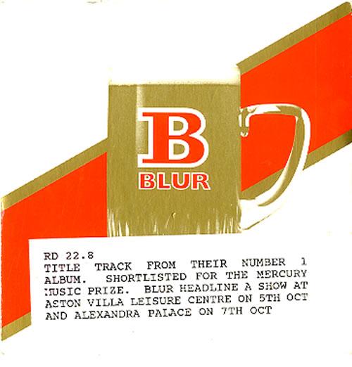"Blur Parklife CD single (CD5 / 5"") UK BLRC5PA32955"