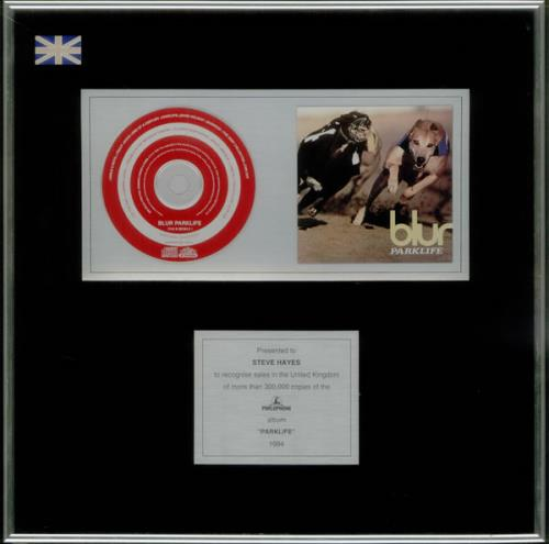 Blur Parklife in-house award disc UK BLRAIPA534624