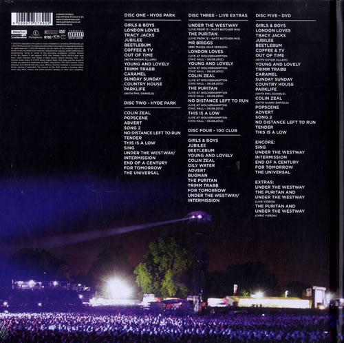 Blur Parklive 2-disc CD/DVD set UK BLR2DPA577491