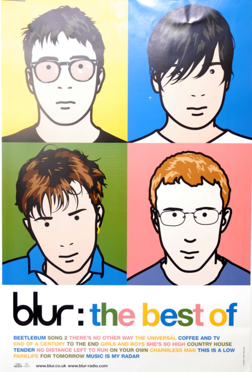 Blur The Best Of Uk Poster 606008