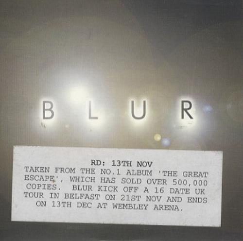 "Blur The Universal CD single (CD5 / 5"") UK BLRC5TH54722"