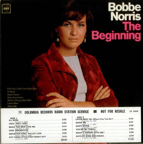 Bobbe Norris The Beginning vinyl LP album (LP record) US B9BLPTH536066