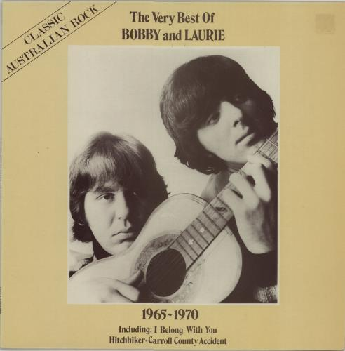 Bobby And Laurie The Very Best Of Bobby & Laurie 1965-1970 vinyl LP album (LP record) Australian IWRLPTH658020