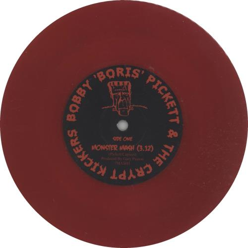 "Bobby 'Boris' Pickett Monster Mash - Red Vinyl 7"" vinyl single (7 inch record) UK B7G07MO658556"