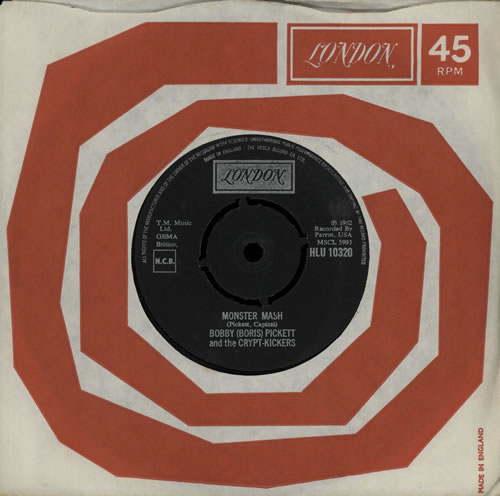 "Bobby 'Boris' Pickett Monster Mash 7"" vinyl single (7 inch record) UK B7G07MO575460"