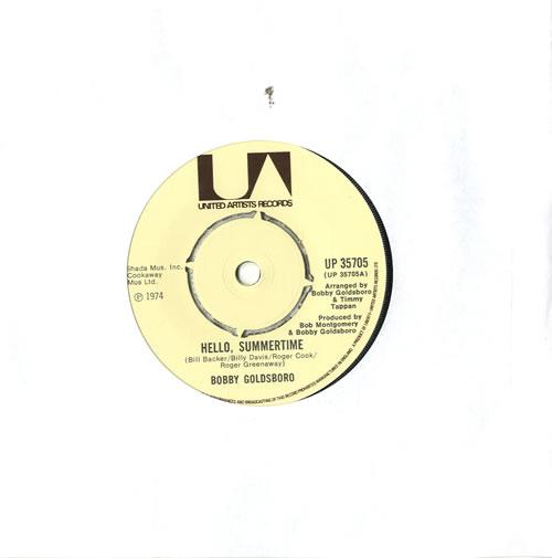 "Bobby Goldsboro Hello, Summertime 7"" vinyl single (7 inch record) UK G0L07HE565739"