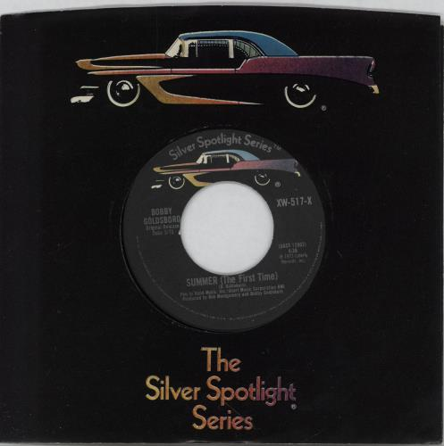 "Bobby Goldsboro Summer (The First Time) 7"" vinyl single (7 inch record) US G0L07SU752039"