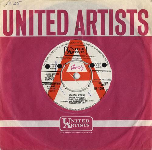 "Bobby Goldsboro Voodoo Woman 7"" vinyl single (7 inch record) UK G0L07VO576553"