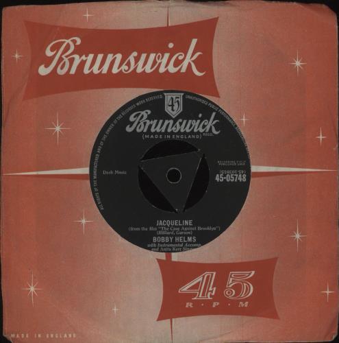 "Bobby Helms Jacqueline 7"" vinyl single (7 inch record) UK B9Z07JA677442"