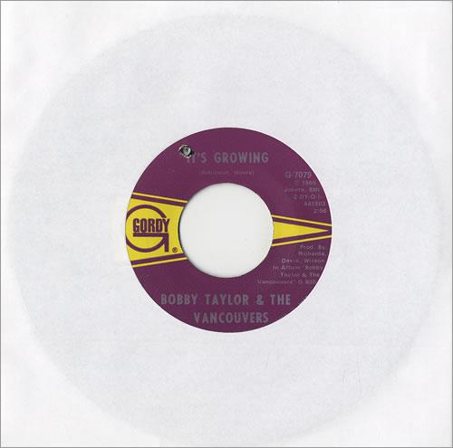 Bobby Taylor & The Vancouvers It's Growing vinyl LP album (LP record) US T&VLPIT459484