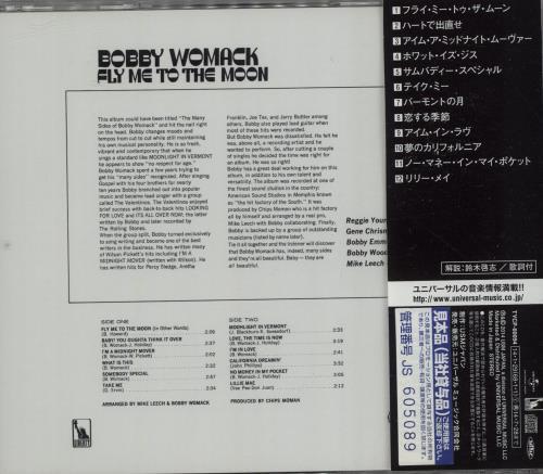 Bobby Womack 1969-1976 Albums Japanese Promo CD album (CDLP)