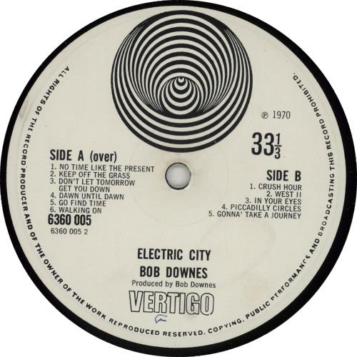 Bob Downes Electric City - VG vinyl LP album (LP record) UK BD0LPEL752562