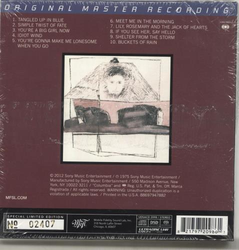Bob Dylan Blood On The Tracks - Sealed super audio CD SACD US DYLSABL693164