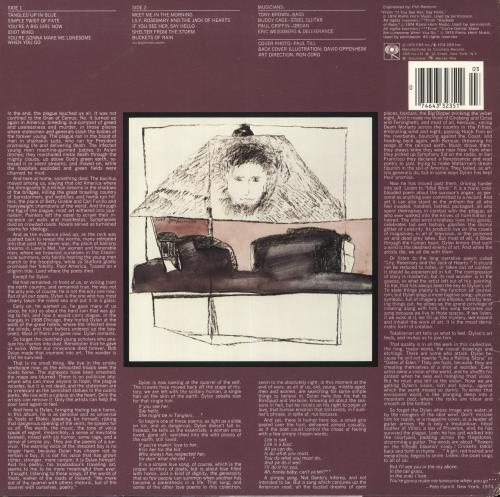 Bob Dylan Blood On The Tracks vinyl LP album (LP record) US DYLLPBL742169
