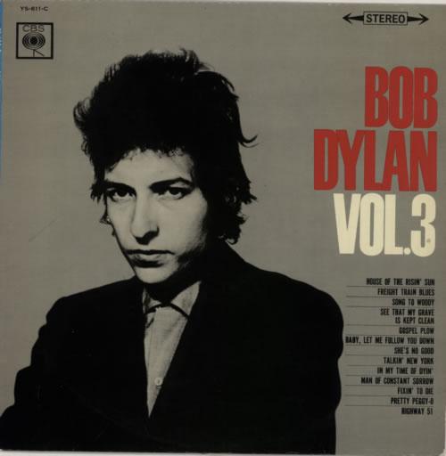 Bob Dylan Bob Dylan Vol. 3 vinyl LP album (LP record) Japanese DYLLPBO593965