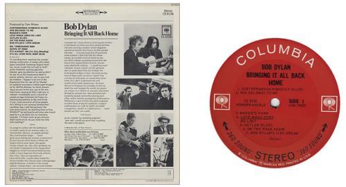 Bob Dylan Bringing It All Back Home - 1st + Song Hype Sticker vinyl LP album (LP record) US DYLLPBR428237