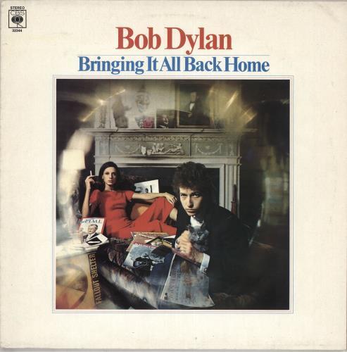 Bob Dylan Bringing It All Back Home - graduated orange label vinyl LP album (LP record) UK DYLLPBR342539