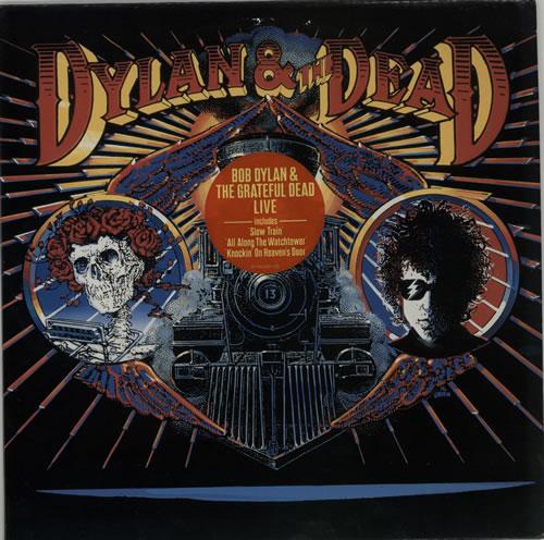 Bob Dylan Dylan & The Dead - Stickered sleeve vinyl LP album (LP record) Dutch DYLLPDY630215