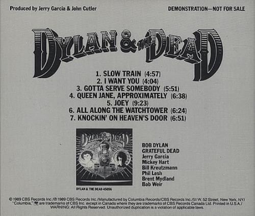 Bob Dylan Dylan & The Dead CD album (CDLP) US DYLCDDY45975