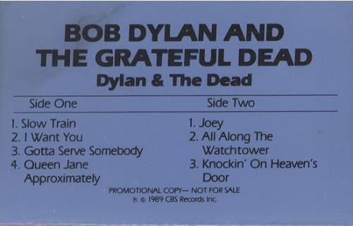 Bob Dylan Dylan & The Dead cassette album US DYLCLDY494096