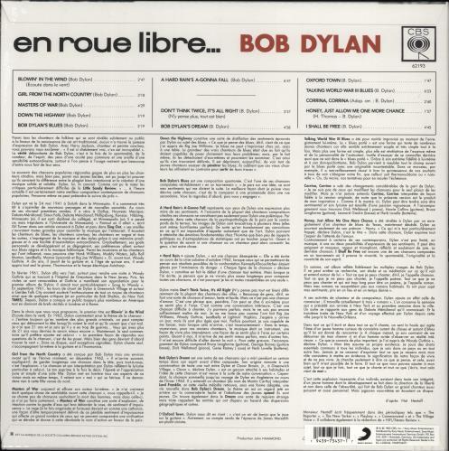 Bob Dylan En Roue Libre... - RSD 2020 - Sealed vinyl LP album (LP record) French DYLLPEN775476