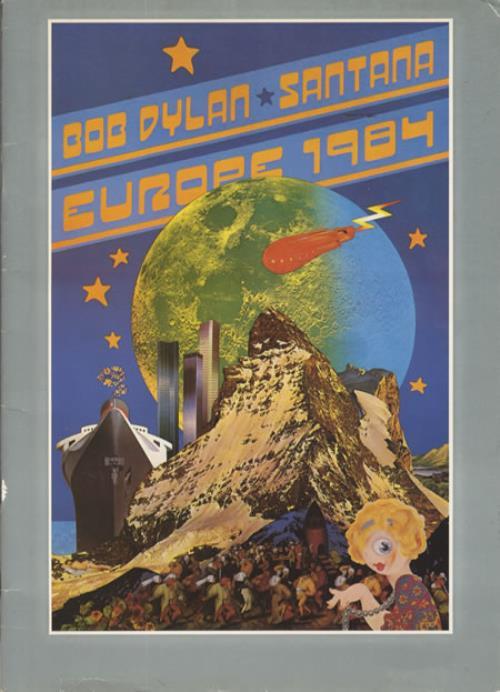 Bob Dylan Europe 1984 tour programme UK DYLTREU229683