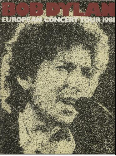 Bob Dylan European Concert Tour 1981 tour programme UK DYLTREU114035