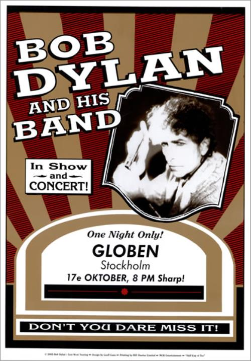 Bob Dylan European Tour Poster Set poster UK DYLPOEU463468