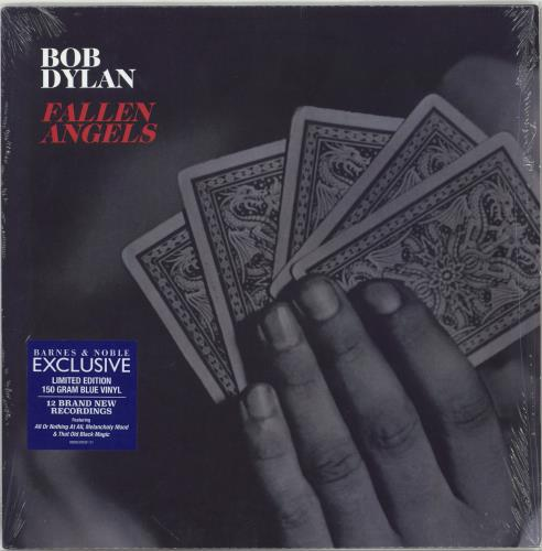 Bob Dylan Fallen Angels - Blue Vinyl vinyl LP album (LP record) US DYLLPFA767339